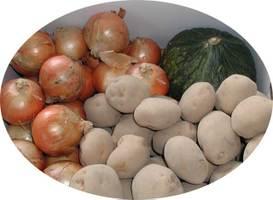 【送料無料!】【北海道 十勝産】[とれたて農産物セット](北あかりLサイズ5kg・玉ねぎLサイズ4kg・栗カボチャ1個約1.5kg