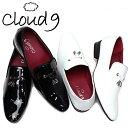 【送料無料】オペラパンプス 靴 エナメルシューズ cloud9 紳士靴 ( cloud9 靴 ビジネスシューズ ) メンズ靴/CN-S ビジネス 紳士靴 エナメル 男性用 スリッポン オペラ 白 黒 【即日出荷】