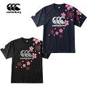 ショッピング日本代表 【CANTERBURY】(カンターベリー)2020年度 Cジャパンワンチームブロッサムティ(メンズ)RA30301 公式ライセンス企画 ラグビー日本代表 Tシャツ