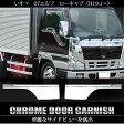 送料無料 いすゞ 07エルフ メッキ ドア ガーニッシュ トラックパーツ トラック部品 ISUZU elf メッキドアパネル トラック用品 ドアガーニッシュ カスタム パーツ