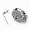 送料無料 KAWASAKI ZZR1400 ZX-14R GTR1400 サイドスタンド エンド スタンドプレート エンドガード サイドステップ スタンドホルダー CNC アルミ削り出し アルマイト シルバー ZZR1400 カスタム ZZR1400 パーツ カワサキZZR1400