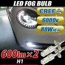 送料無料 CREE製 LEDバルブ H1型 フォグランプ 8...