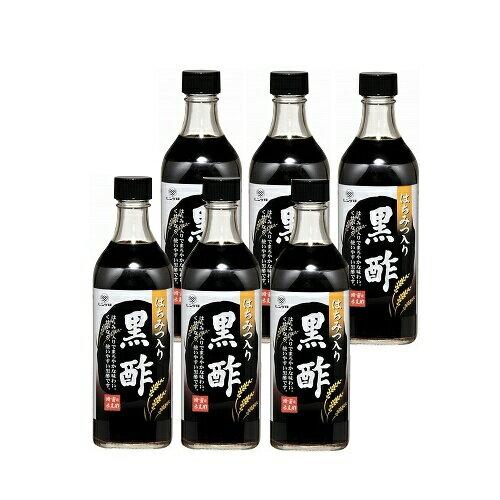 レンゲ印 黒酢にこだわりはちみつ入り黒酢6本入り【黒酢】【送料無料】