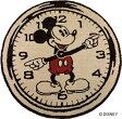 ディズニー スミノエ ラグマットシリーズミッキー オンザクロック! ラグマット【サイズ:約100cm×100cm(円形)】【日本製】Disney/MICKEY/on the clock!【DRM-4000】
