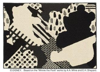 小熊維尼迪士尼住之江 ragmat 系列拼貼地毯地毯地毯迪士尼/小熊維尼/拼貼迪士尼小熊維尼地毯