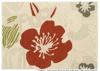小熊維尼迪士尼住之江 ragmat 系列大膽地毯地毯迪士尼/小熊維尼/大膽地毯迪士尼小熊維尼地毯