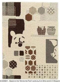 迪士尼住之江 ragmat 系列小熊維尼捉迷藏地毯地毯迪士尼/小熊維尼/hide-和-seek 地毯迪士尼明星小熊維尼地毯