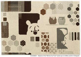 迪士尼住之江 ragmat 系列小熊維尼捉迷藏地毯地毯 Disnek/小熊維尼/hide-和-seek 地毯迪士尼明星小熊維尼地毯