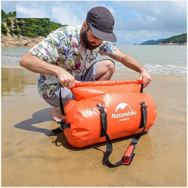 Naturehike筒型ダッフルバッグ容量40L防水バッグ円形ドラム型ドライバッグラフティングチュー