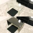 ガラステーブル 75cm幅 ローテーブル センターテーブル コーヒーテーブル カフェテーブル ガラス クリア クリアー テーブル 透明 ブラック 黒色 高級感 おしゃれ かわいい 送料無料 (北海道 沖縄 離島を除く) 激安