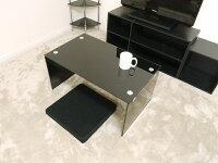 ガラステーブル75cm幅ローテーブルセンターテーブルコーヒーテーブルカフェテーブルガラスクリアテーブル透明ブラック黒色高級感おしゃれかわいい送料無料(北海道・沖縄・離島を除く)激安