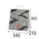 【ケース販売】ラッピーバッグ NO.7 小紋巾340×マチ210×高さ365mm150枚