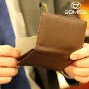 【レターパックプラス送料無料】ソメスサドル 本革名刺入れ フェル チョコレートブラウン