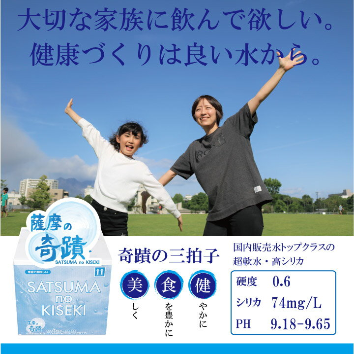 薩摩の奇蹟 10L 2箱 天然温泉水【送料無料...の紹介画像2