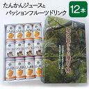 たんかんジュースとパッションフルーツドリンクセット 12本入り 国産 屋久島