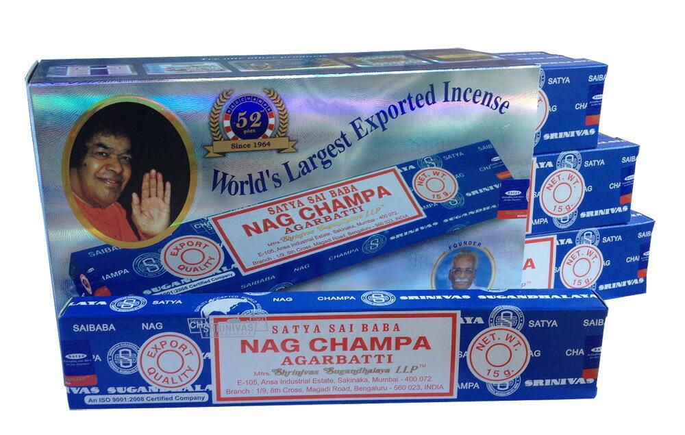 【お香】Satyaサイババナグチャンパ15g 12箱セット/Saibaba Nag Cha…...:satya-do:10000110