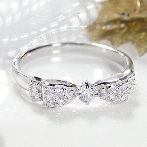 ジュエリー アクセサリー レディース リング・ホワイトゴールド・ダイヤモンド・ダイア・