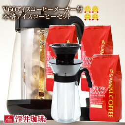 【ほぼ全品ポイント10倍!! 最大2,500円クーポン】 アイスコーヒー コーヒー 水出しコーヒー コーヒー豆 コーヒー粉 粉 お試し 豆 本格アイスコーヒーセットハリオ <strong>V6</strong>0アイスコーヒーメーカー付き 福袋 ※冷凍便不可 楽天お買い物マラソン