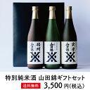 日本酒 飲み比べ 特別純米 山田錦ギフトセット 720ml×3本 送料無料