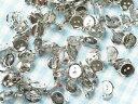 【台座付きブローチピン 約100個】小 凹 1.3cm 13mm コサージュピン ブローチ台 ブローチ金具 ピン付き 台付き シルバー silver 銀