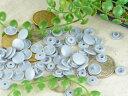 プラスチック スナップボタン(T-5)【マットカラー 30組(12mm シルバー)】プラスナップ 手芸材料 プラスチック製 ボタン