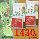 狭山深蒸し茶2本セット【全国送料無料】!【日本茶/緑茶/お茶/狭山茶/深蒸し茶】