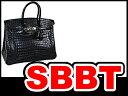 【SBBT】エルメス バーキン35 マットクロコダイルポロサス  黒 ゴールド金具 B刻印 本物 未使用!
