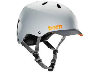 バーンbern-WATTSワッツMatteBlackGreyBrimBE-VM5MGGB灰×濃灰自転車スケートボードBMXピストヘルメット