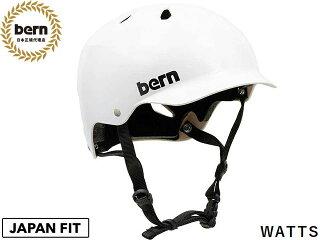 バーンbern-WATTSワッツSatinWhiteBE-VM5SWTツヤあり白×黒自転車スケートボードBMXピストヘルメット