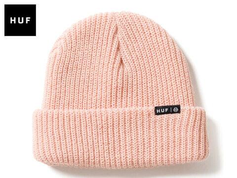 【国内正規品】 HUF -【2017FALLモデル】USUAL BEANIE PINK ユージュアル ビーニー ニットキャップ ニット帽 ピンク 帽子 ハフ