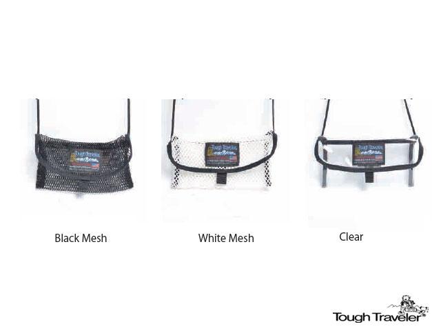 Tough Traveler - 【国内正規品】 TT-0002 Neck Pouch Mods s Black Mesh White Mesh Clear ブラック ホワイト メッシュ クリア タフトラベラー ネック ポーチ サコッシュ アメリカ製 バッグ 小物入れ 男女兼用 アウトドア フェス キャンプ BBQ