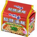 【訳あり】 賞味期限:2018年6月21日 サッポロ一番 酸辣湯麺 (106g×5食入) インスタントラーメン 袋麺