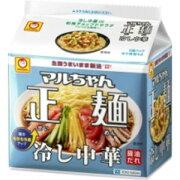 【訳あり】 賞味期限:2019年3月20日 マルちゃん正麺 冷し中華 醤油だれ (5食入) 袋 インスタント めん