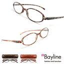 【SALE】 Bayline/ベイライン リーディンググラス 老眼鏡 オーバル型フレーム ミニフラワー柄デザイン シニアグラス