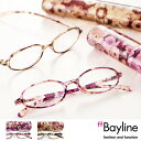 老眼鏡 女性 おしゃれ Bayline/ベイライン リーディンググラス(老眼鏡)★オーバル型フレームのフラワーアートデザイン  【あす楽対応】