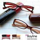 Bayline (ベイライン) リーディンググラス(老眼鏡) ラインストーン バイカラーデザイン[A] 【あす楽対応】 老眼鏡 女性 おしゃれ