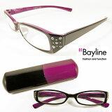 Bayline (ベイライン) リーディンググラス(老眼鏡) ラインストーン バイカラーデザイン[D] 【あす楽対応】【楽ギフ包装選択】 老眼鏡 女性 おしゃれ