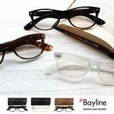Bayline PC対応リーディンググラス(老眼鏡)&PCグラス カジュアル ウェリントン 【楽ギフ包装選択】  PCメガネ 老眼鏡 10P02Mar14