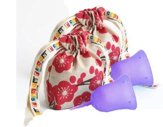 斯昆杯 W 包 () 保存共用有用,朋友,買了兩個。 在生理活動順利進行。 便於使用的衛生棉條或在第三新衛生巾衛生用品日本婦女的月經杯顏色︰ 禪 (紫色)