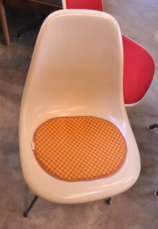 For Eames seat pad Alexander Gerard Orange Checker SCOOPS original