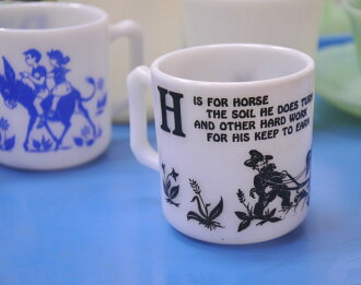 To ーゼルアトラス キッズマグ horse, H is for Horse child mug HazelAtlas