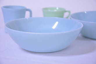 FireKing fire King turquoise blue vegetable Bowl