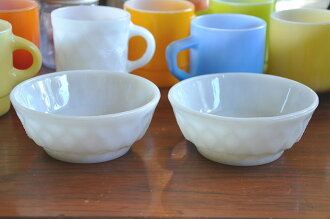 Fire King Kimberly cereal bowls white FireKing