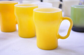 Yellow FIREKING mug fire King soda mugs ( コーラマグ )