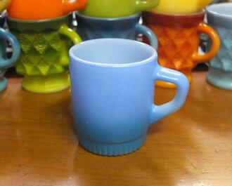 Fire King mug blue live bottom Mag FireKing