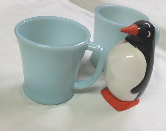 Fire King turquoise blue D handle & mug FireKing