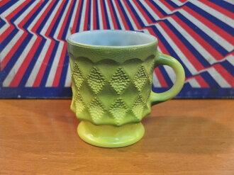 Fire King FireKing Kimberly green mug FIREKING mug