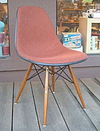 Eames Herman Miller original brick Brown-fabric side shell eames herman miller Sideshell