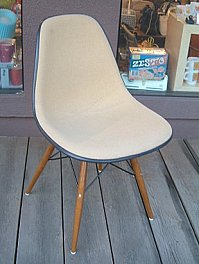 Herman Miller Eames original Tan fabric side shell herman miller EAMES Sideshell