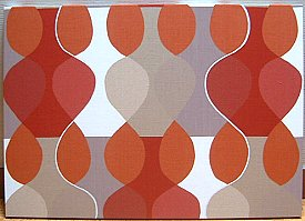 Scandinavian wall panel Malaga Mona Bjork design size L Red
